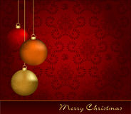 Christmas greeting card Stock Photos