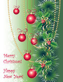 Christmas greeting card Stock Image