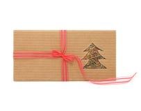 Christmas greeting card. With christmas tree royalty free stock photo