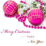 Christmas greeting card. With simple text Royalty Free Stock Photography
