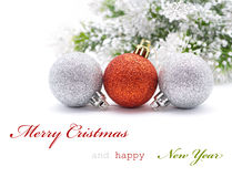 Christmas greeting card. With sapmle text Royalty Free Stock Images