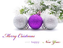 Christmas greeting card. With sapmle text Stock Photography