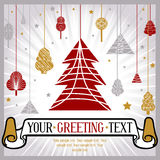 Christmas greeting card. In vactor Stock Photos