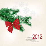 Christmas greeting card. Vector greeting card. Merry Christmas & Happy New Year Royalty Free Stock Photo