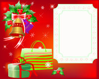Christmas greeting card. Royalty Free Stock Image