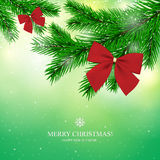 Christmas greeting card. Christmas & New Year. Vector greeting card Royalty Free Stock Image