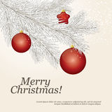 Christmas greeting card. Christmas & New Year. Vector greeting card Stock Photos