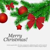 Christmas greeting card. Christmas and New Year. Vector greeting card Stock Photography