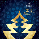 Christmas greeting card. Christmas and New Year greeting card, party flyer or invitation Stock Photos