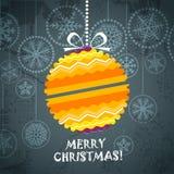 Christmas greeting card. Vintage style Christmas greeting card Stock Image