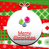 Christmas Greeting Card. Stock Photos