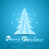 Christmas greeting Card. Blue Christmas greeting Card. Illustration Stock Image