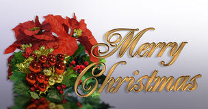 Christmas greeting card 3D Gold text Royalty Free Stock Photos