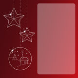 Christmas greeting card. With copyspace stock illustration