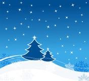 Christmas greeting card. Christmas card with snowflakes and stars Stock Image