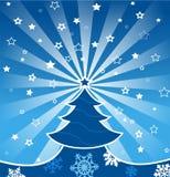 Christmas greeting card. Christmas card with stars and snowflakes Stock Image