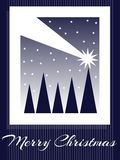Christmas greeting card in blue tones stock photography