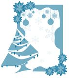abstract Christmas greeting card with tree Stock Images