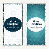 Christmas greeting card. Abstract Happy New Year  background.  Hand drawn inscription. Vector illustration Royalty Free Stock Photography
