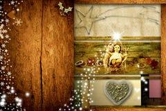 Christmas greeting card Baby Jesus Stock Photography