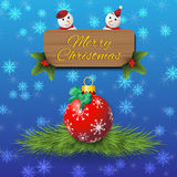 Christmas Greeting card background Stock Photography