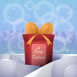 Christmas greeting card background poster. Merry christmas and Happy new year. Royalty Free Stock Images