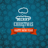 Christmas greeting card on background with snowflakes Stock Images