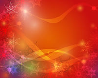 Christmas Greeting Card background with space for text.Christmas Greeting Card.Red decorative snowflakes background. Vector illustration stock illustration