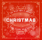 Christmas greeting card background. vintage ornament decoration Stock Photo