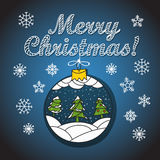 Christmas greeting card with bauble Stock Images