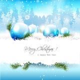 Christmas greeting card Stock Image