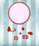 Christmas Greeting Card. with big free space for your advertising Royalty Free Stock Image