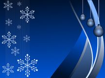 Christmas greeting card in blue Royalty Free Stock Photos