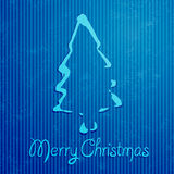 Christmas greeting card with blue background Stock Photo