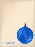 Christmas greeting card with blue decoration Stock Photo