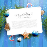 Christmas greeting card stock illustration