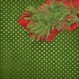 Christmas greeting card with branches of spruce Royalty Free Stock Images
