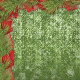 Christmas greeting card with branches of spruce Royalty Free Stock Photos