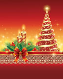 Christmas greeting card. Christmas cards in the decoration Stock Photos