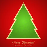 Christmas greeting card with cartoon tree Royalty Free Stock Photo