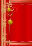 Christmas greeting card, cdr vector Stock Image