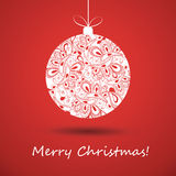Christmas Greeting Card - Christmas Ball Stock Image