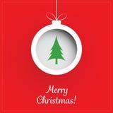 Christmas Greeting Card - Christmas Ball Royalty Free Stock Image