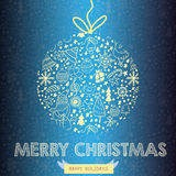 Christmas Greeting Card (christmas card concept).EPS10 Royalty Free Stock Photography