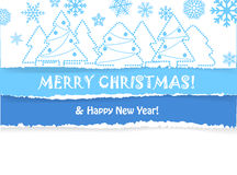 Christmas greeting card with christmas forest Royalty Free Stock Image