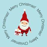 Christmas Greeting Card with Christmas Santa Claus. Vector illus Stock Photography