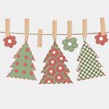 Christmas greeting card with Christmas tree Stock Photography