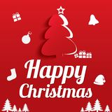 Christmas Greeting Card. Christmas tree. Eps10. Stock Image