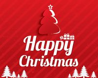 Christmas Greeting Card. Christmas tree. Eps10. Royalty Free Stock Image