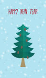 Christmas greeting card. Christmas tree. Happy new year Stock Images